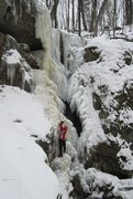Rock Climbing Photo: The main falls in thin conditions for February