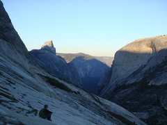 Rock Climbing Photo: approach slabs at dawn