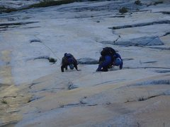 Rock Climbing Photo: Rivers can form in early season making things a bi...