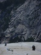 Rock Climbing Photo: nearing the top as the slabs start to roll off.  s...