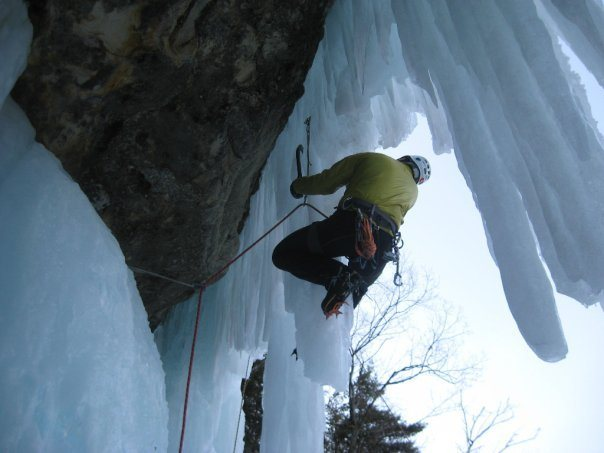 Curtins Climb picture off Michigans Ice Fest's Facebook page