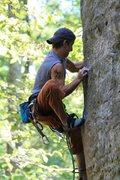 Rock Climbing Photo:  My son Maciek trying hard