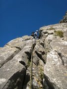 Rock Climbing Photo: Crack on the right side of the prow leading to the...