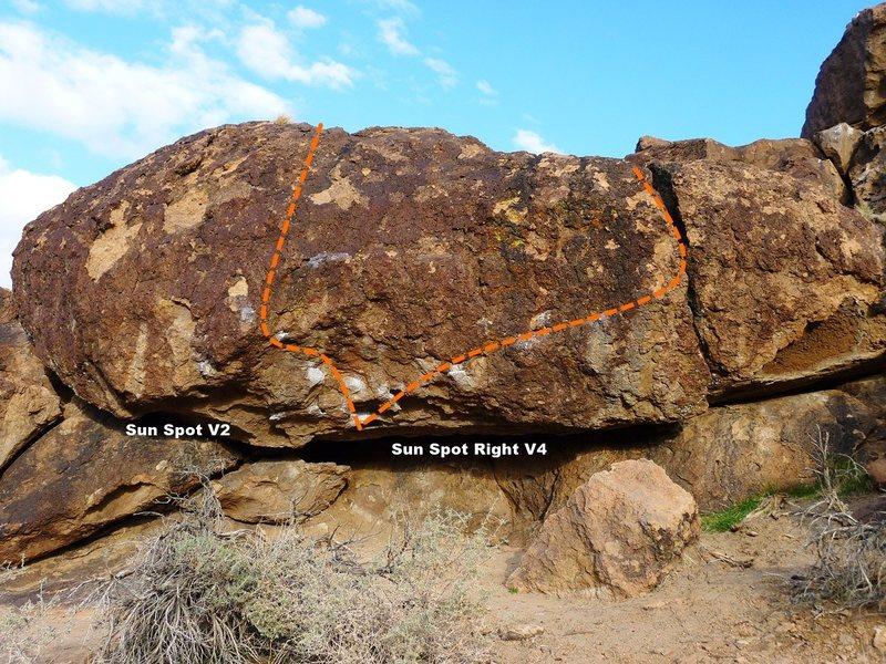 Sun Spot Boulder Topo