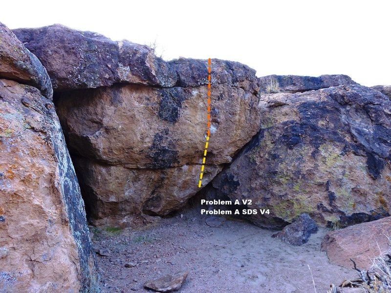 Rock Climbing Photo: Problem A Bay Topo