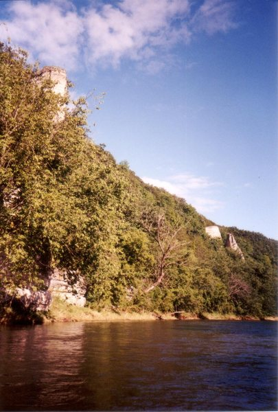 Southernmost of the two Chimney Rocks includes a free-standing pillar