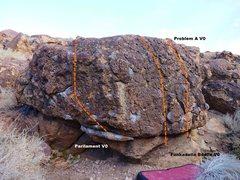 Rock Climbing Photo: Shorty Boulder Left Topo