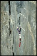 Rock Climbing Photo: Me solo on Zenyatta Mondatta fall 1998  just 30min...