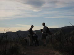 Rock Climbing Photo: After a long day at the Texas Canyon rock we have ...