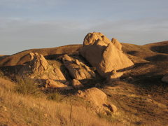 Rock Climbing Photo: This is the rock at Texas Canyon. We had to walk a...