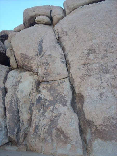 Rock Climbing Photo: The short crack on the left edge of the photo is T...
