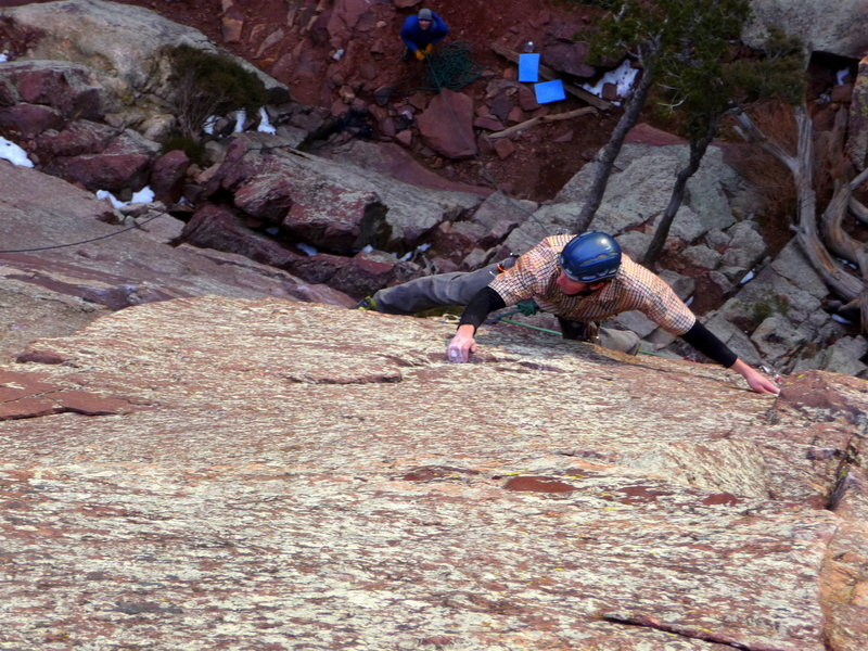 Rock Climbing Photo: Just past the first bolt on Iron Pony. Photo: Lisa...