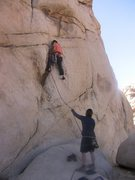 Rock Climbing Photo: Chris starts up The Flue, Parker belays. Photo by ...