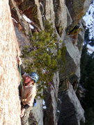 Rock Climbing Photo: Making the tenuous third clip on Iron Pony. Photo:...