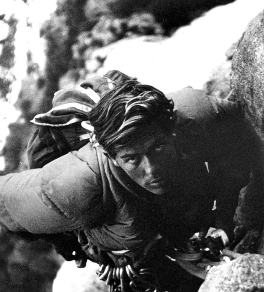Rock Climbing Photo: Pat Ament on the 10th ascent of The Nose, 1967