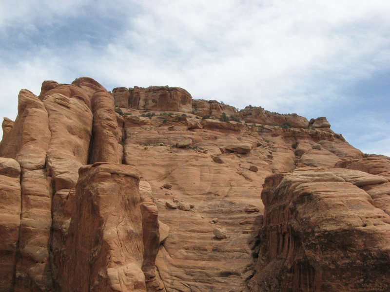 Rock Climbing Photo: This is looking towards the summit from above the ...