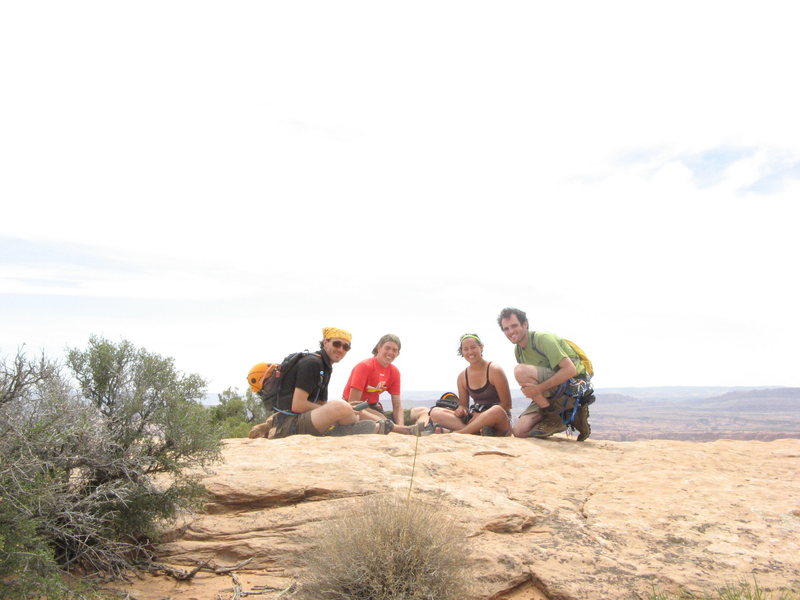 Rock Climbing Photo: Us on Elephant Butte - 2009