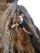 Rock Climbing Photo: The P girl takin' a ride up Thetis.