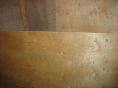 Rock Climbing Photo: Panels drilled and tung oiled