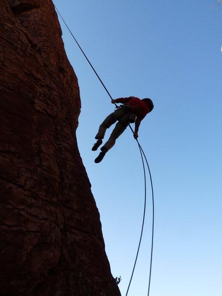 Rock Climbing Photo: Arjun rapping Entrance Tower