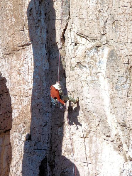 Rock Climbing Photo: Arjun rapping the Shmotem Pole