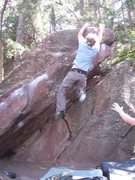 Rock Climbing Photo: Wes doing a dyno variation.
