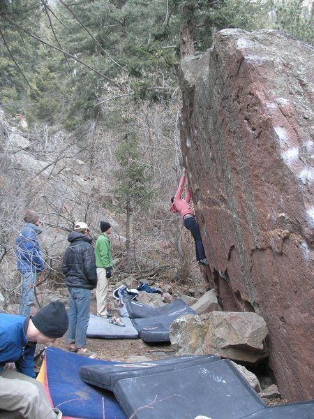 Rock Climbing Photo: Jeana working on the Horan Face.