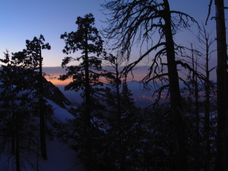Rock Climbing Photo: Sunrise . . . burrrrrrrrrrrr