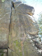 Rock Climbing Photo: Face to the right of the crack.