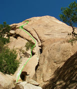 Rock Climbing Photo: Beta photo showing the general route.  There is pl...