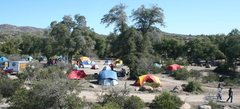 Enjoying Oak Flat Campground with some (100's) of fellow picnickers and campers.