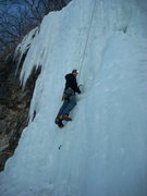 Rock Climbing Photo: Rhoads on the left side of the Main Route on 2/13/...