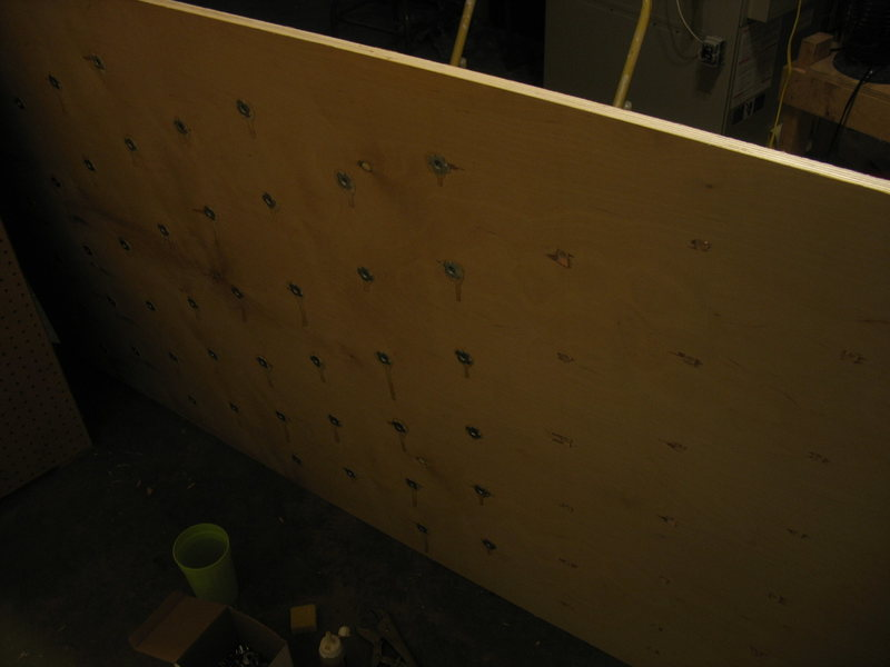 A little over half of the T-Nuts installed in the first panel