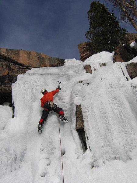 Rock Climbing Photo: Trevor on the FA.