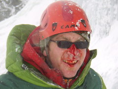 Rock Climbing Photo: It's a bonk on the nose for Christopher Jones.  Li...