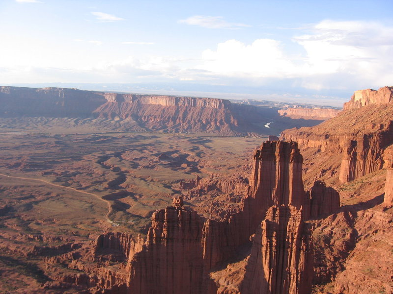 View from the top of the Titan, Fisher towers