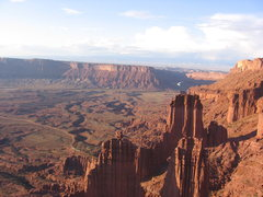 Rock Climbing Photo: View from the top of the Titan, Fisher towers
