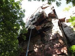 Rock Climbing Photo: Heading into the crux - '09.