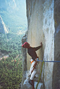 Rock Climbing Photo: On the North America Wall in 1977.