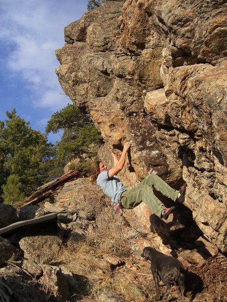 Rock Climbing Photo: mid problem pinch