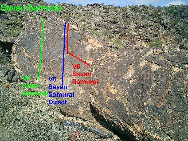 Rock Climbing Photo: Seven Samurai