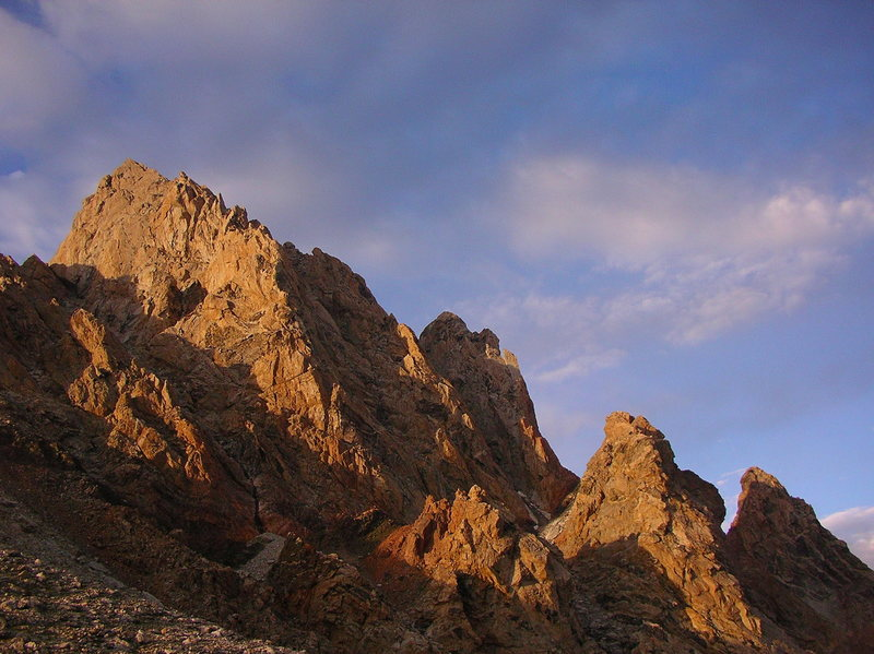 Rock Climbing Photo: Grand Teton from lower saddle