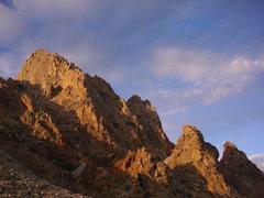 Rock Climbing Photo: Grand Teton from lower saddle
