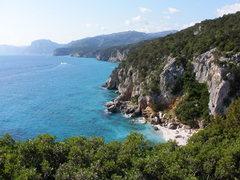 Rock Climbing Photo: Cala Fuili, 5 min from town