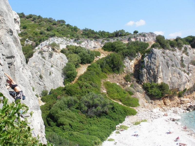 Rock Climbing Photo: Malena at Cala Fiuli