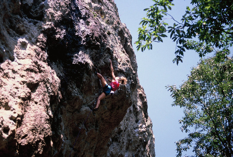 Rock Climbing Photo: The classic JCCII (put up by Jeonju Climbing Cente...