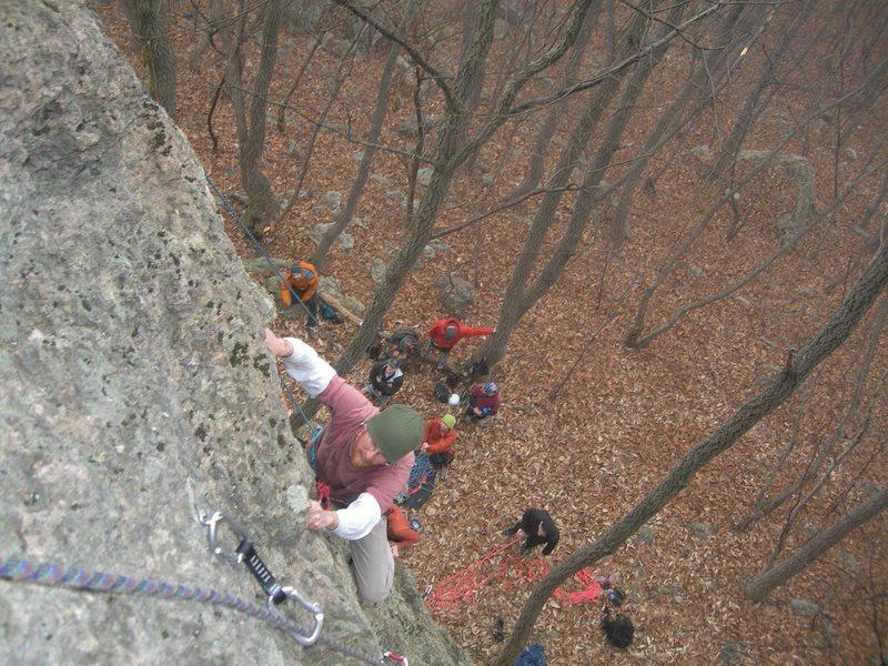 """The """"easy"""" crag? at Seonunsan."""