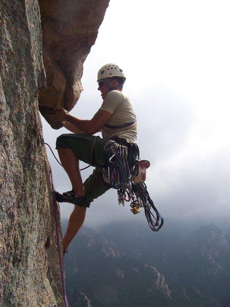 Rock Climbing Photo: Johnathan enjoying the views as well as the climbi...