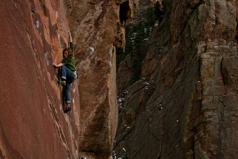 Rock Climbing Photo: thin moves on fire and ice