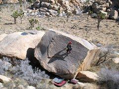 Rock Climbing Photo: Bouldering on the Jimmy Cliff Boulder, Joshua Tree...